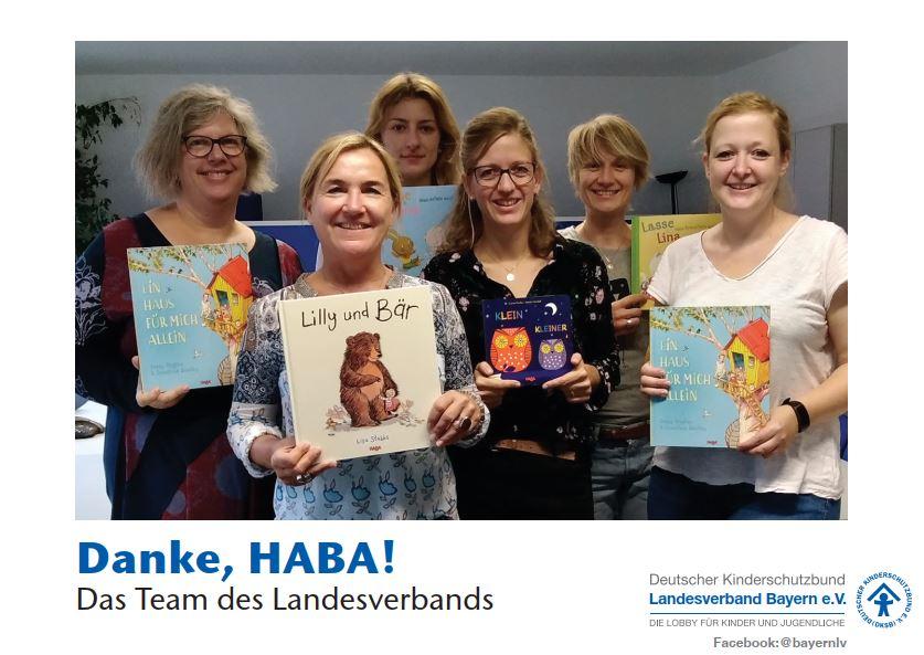 Firma HABA spendet Bücher an Kinderschutzbund Bayern